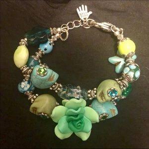 Jewelry - Handmade Skulls bracelet Dia de los Muertos